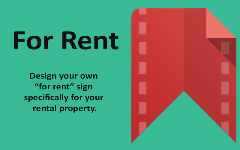 "Designing your rental property's ""For Rent"" sign"