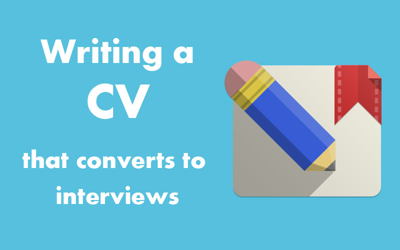 Notes for your CV